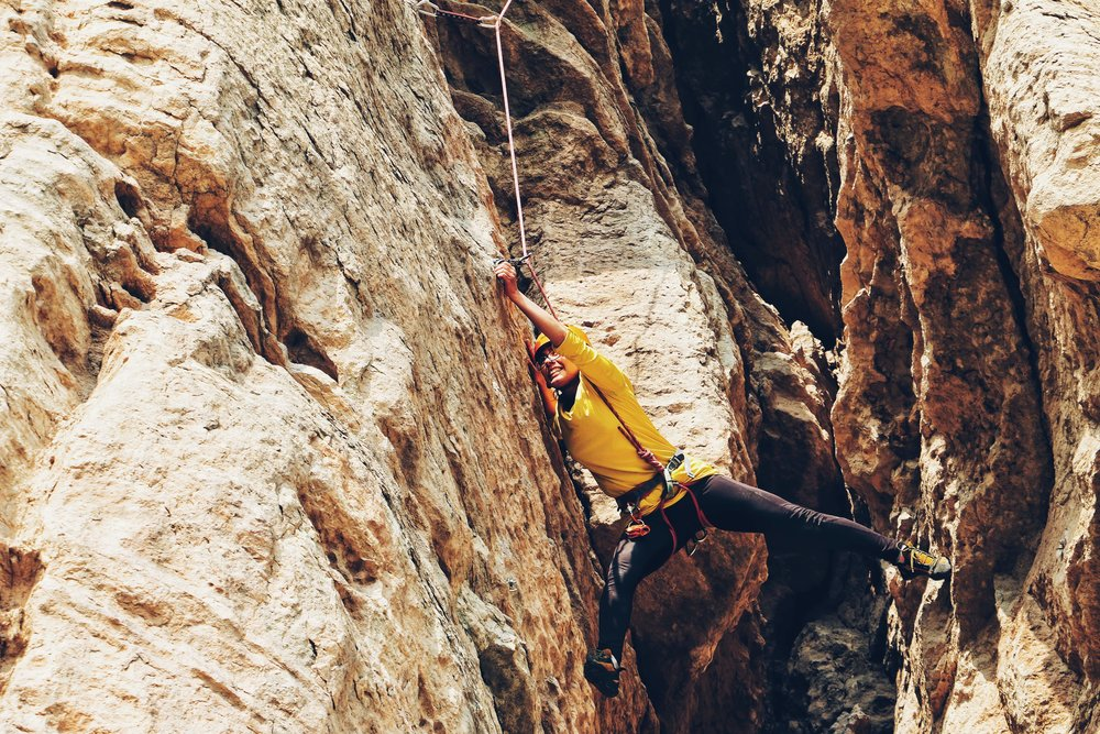 climber stretching out