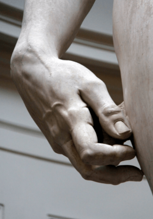 Michelangelo David Sculpture Hand