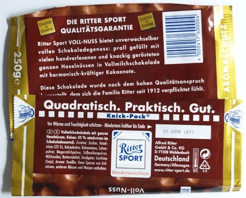 Ritter Sport Value Proposition