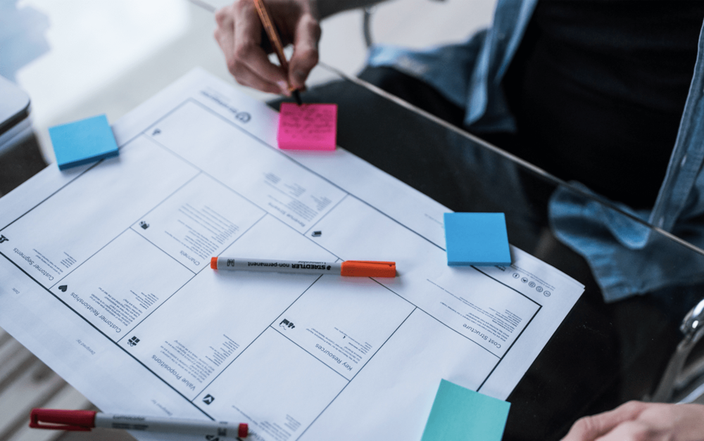 Linking boxes on the Business Model Canvas