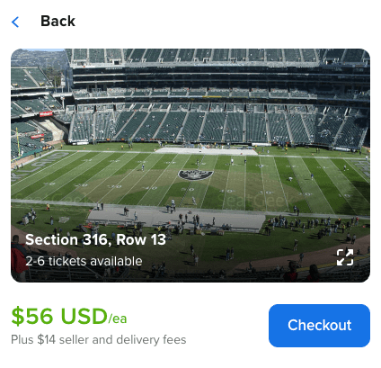Choosing NFL seats