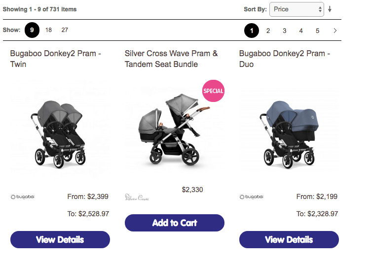 Choosing prams