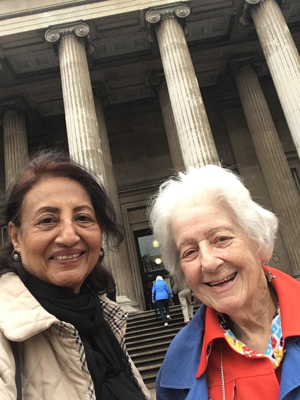 Shahana and fellow OPAG member Elizabeth Ann visit the British Museum