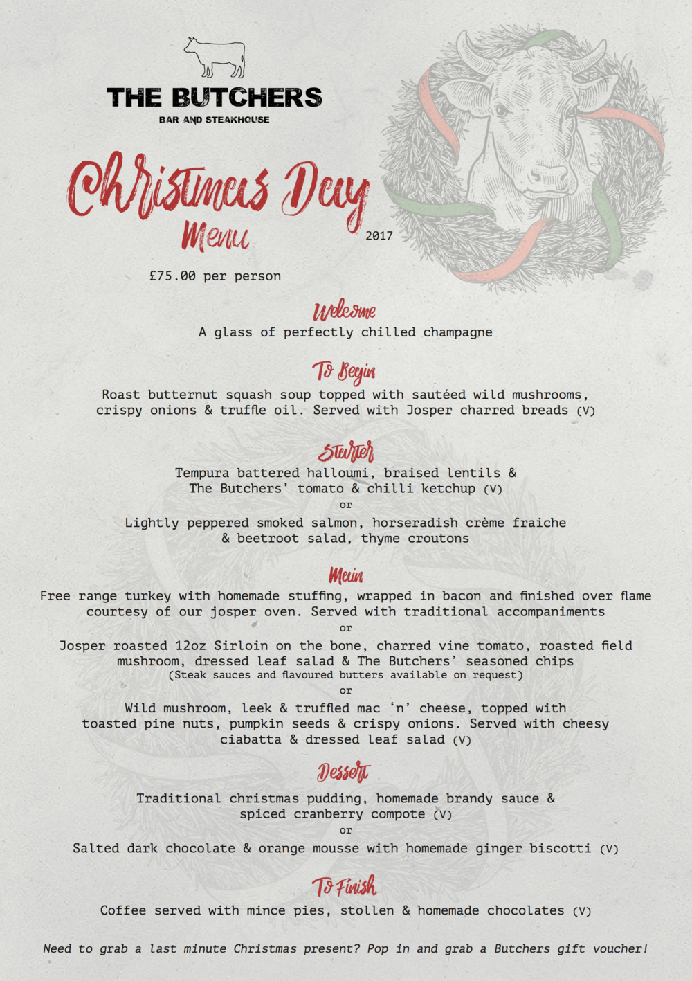 CLICK HERE TO DOWNLOAD OUR FESTIVE MENU AND BOOKING FORM