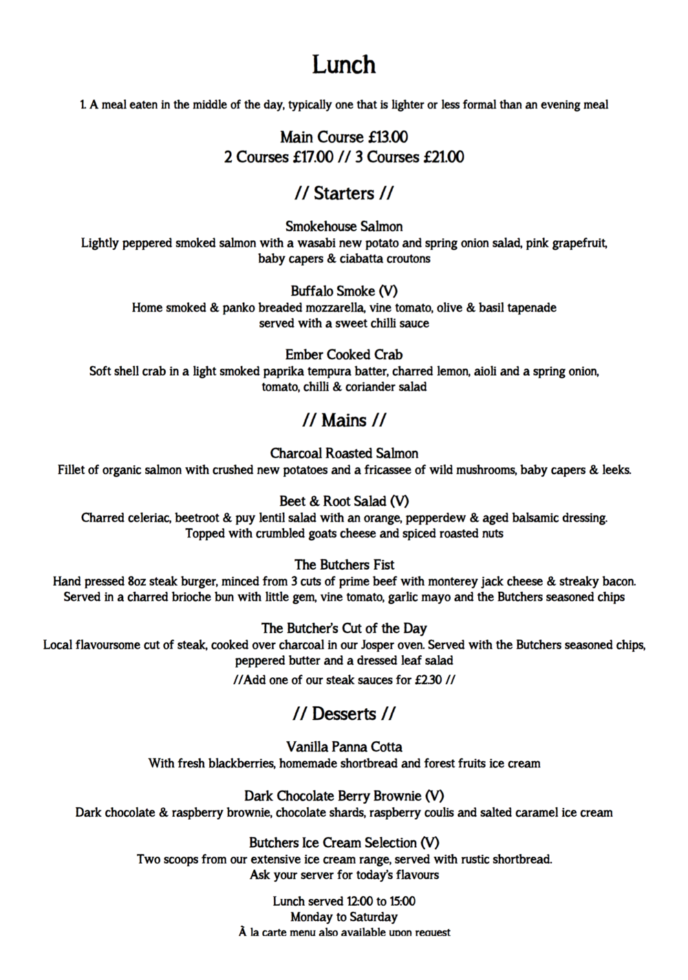 Click here to see a sample lunch menu