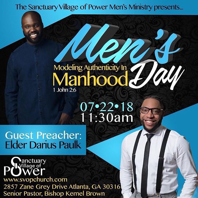 Let's see what the men have in store. It's Men's Day!!!!! See you at 11:30!