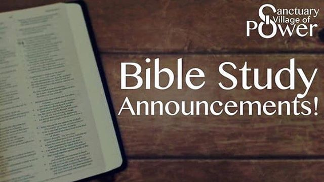We will not have Bible Study tonight (January 30, 2019) at Zane Grey. If you are a part of our church group page, please join our discussion topic. See you Sunday!