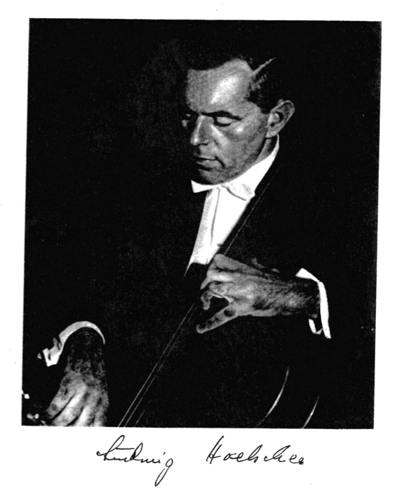 Cellist Ludwig Hoelscher who owned the Guarneri cello