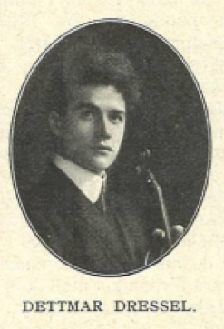 Dettmar Dressel, one of Wilhemj's pupils, to             whom this Tubbs bow was given