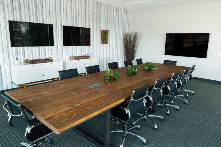 Rustic Conference Steel table