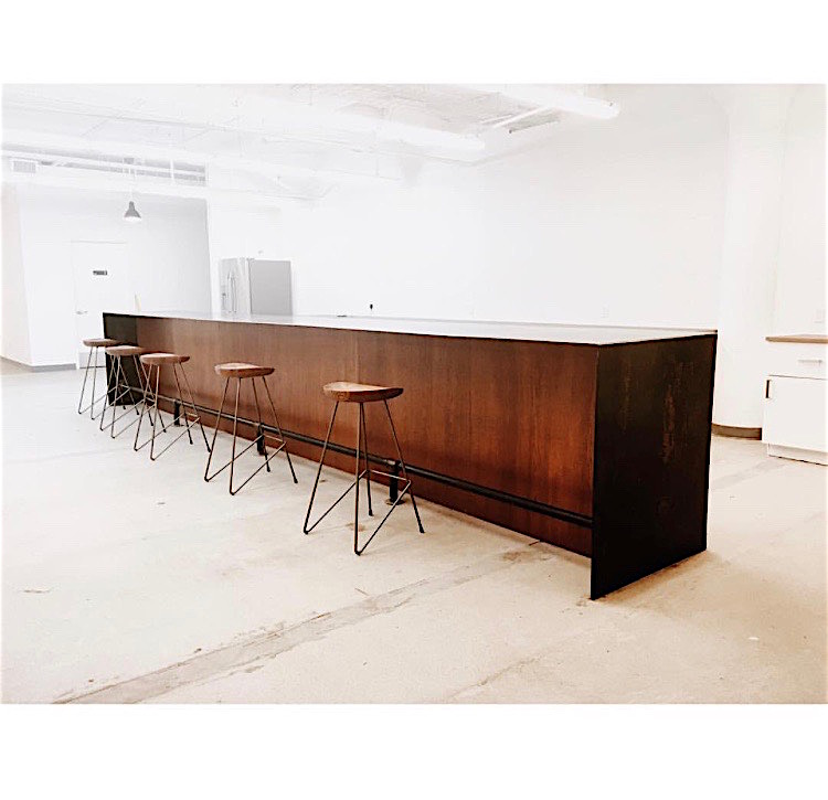 Blackened Steel Bar Table