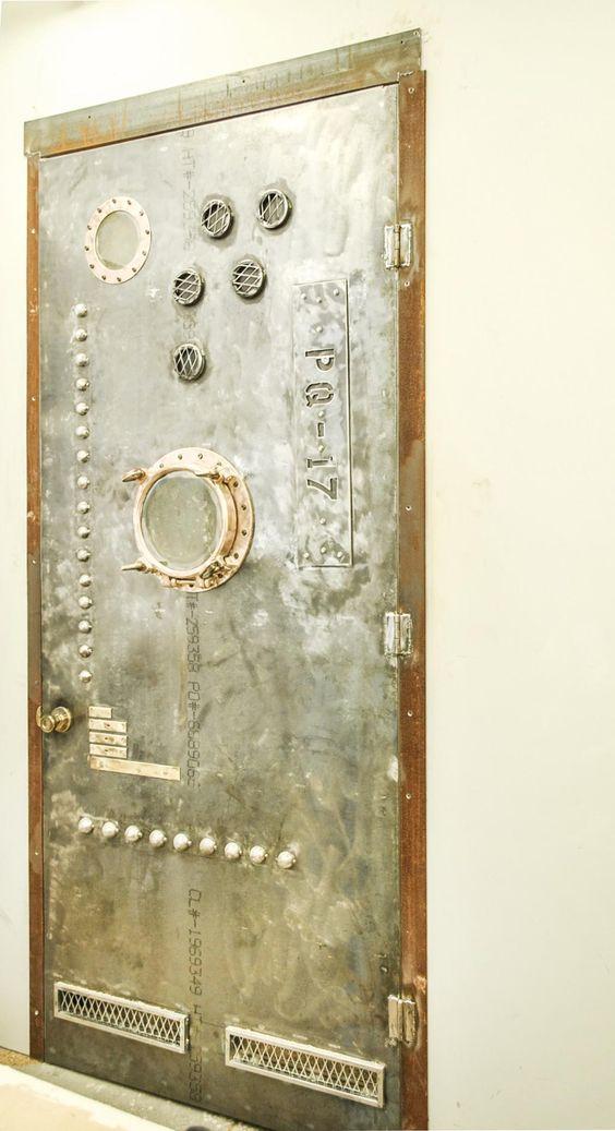 "Artistic Steel Entrance Door (""Submarine"")"