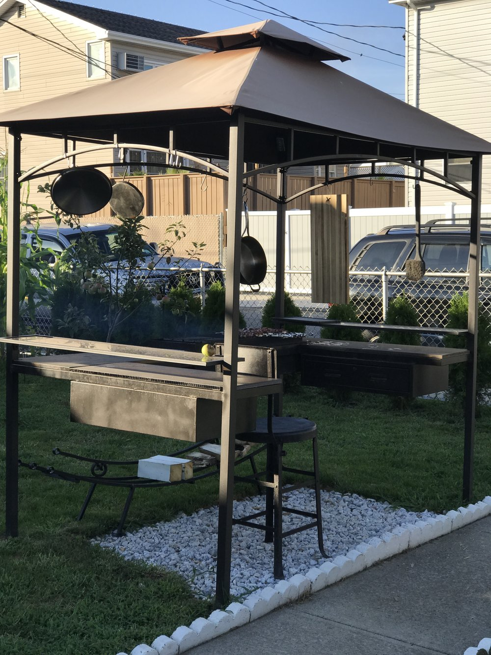 Steel Gazebo with Grill