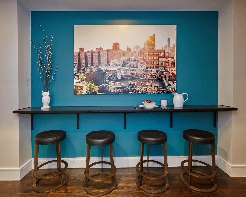 Contemporary Steel Bar Shelf  / Table