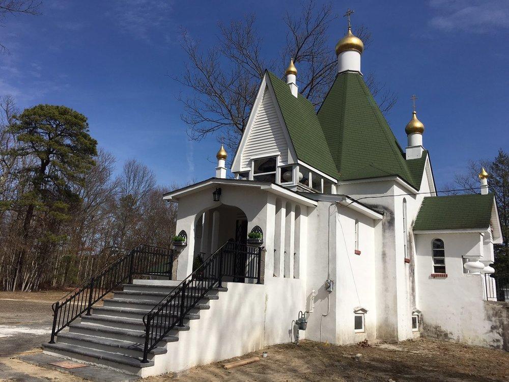 church entrance railings