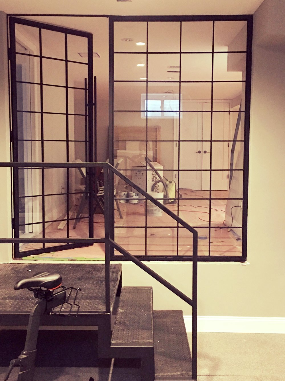 Gym Metal French Doors