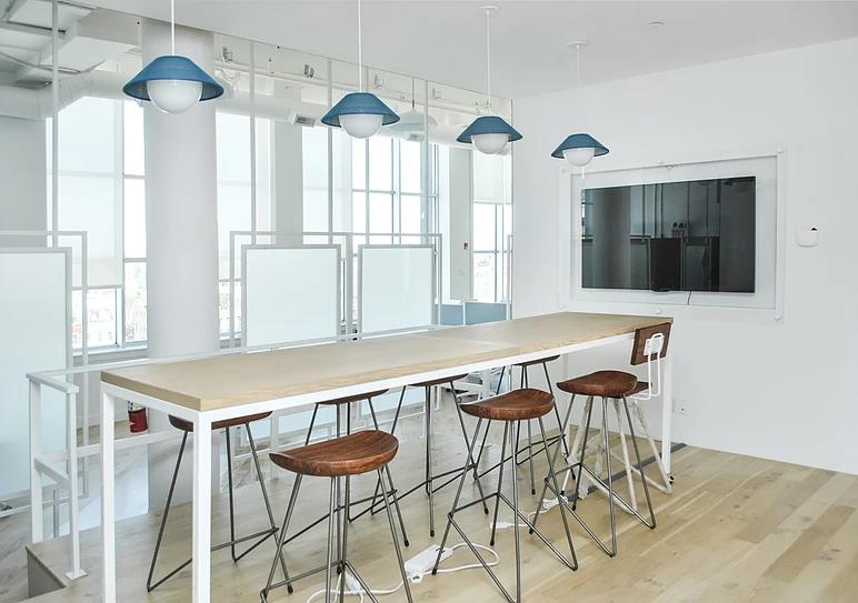 Minimalist Steel @ Glass Conference Table