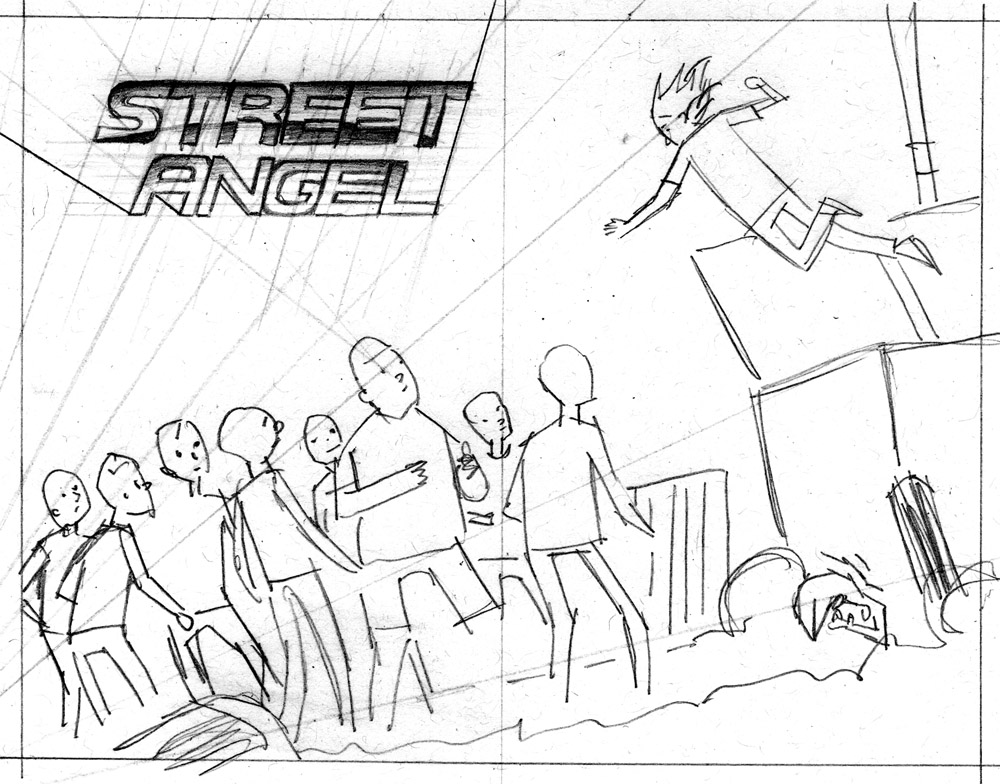 JR Street Angel sketch