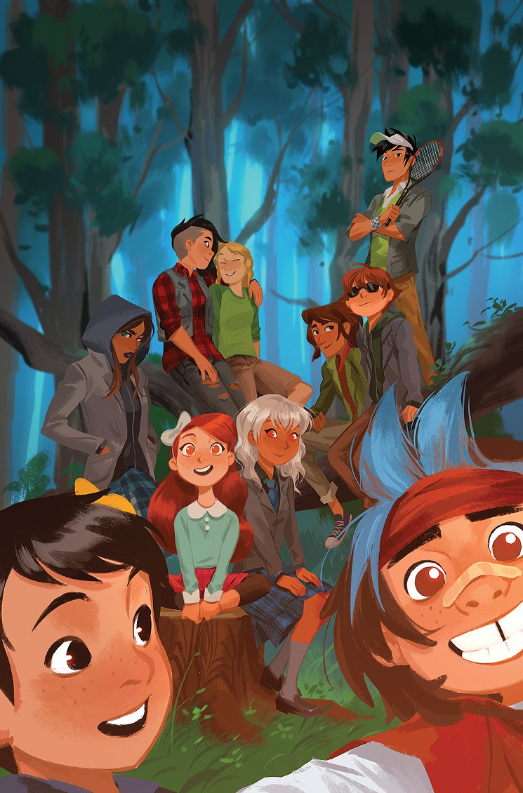 Lumberjanes/Gotham Academy cover by Mingjue Chen