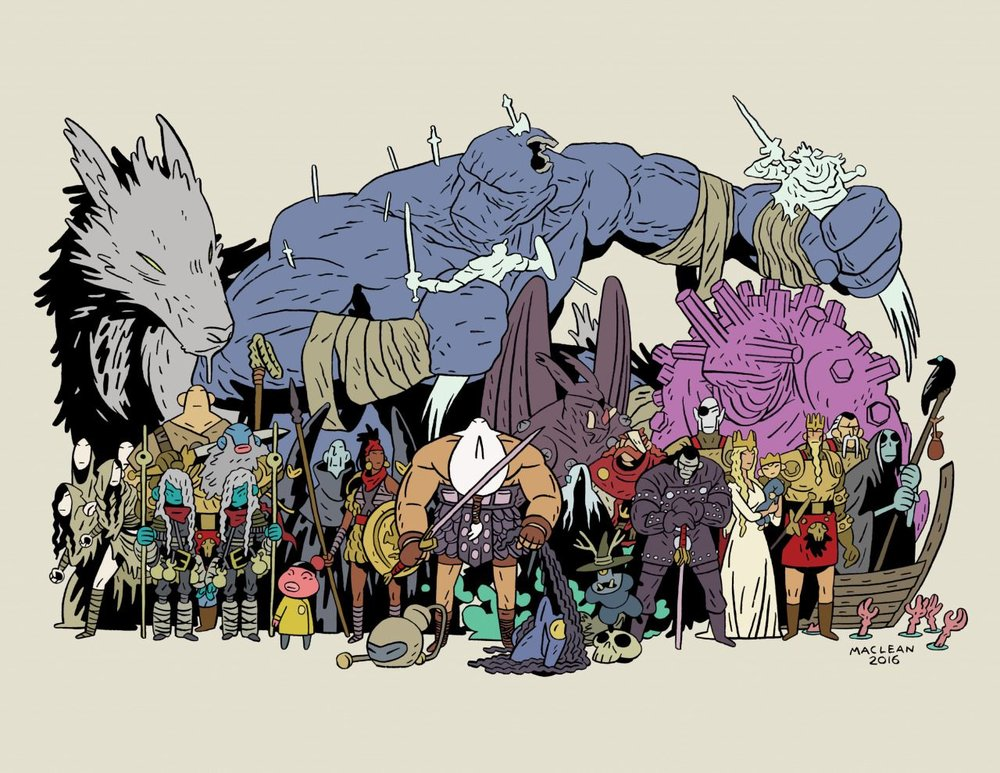 Head Lopper Cast print
