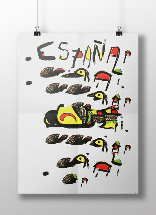 Distorted Typography: Espana