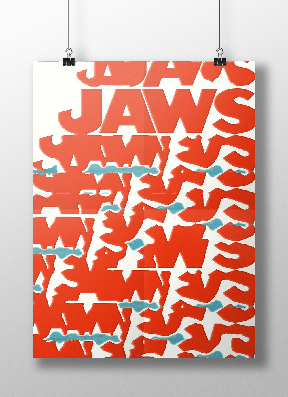 Distorted Typography: Jaws