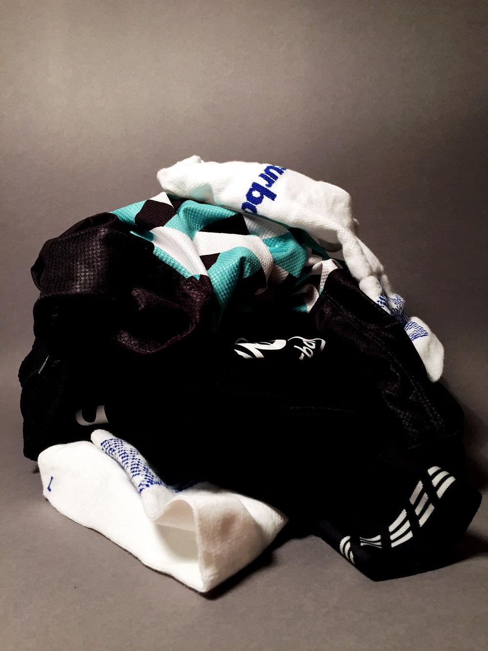 ls endurance jersey, ss grid jersey, classic bib tights, puncheur socks