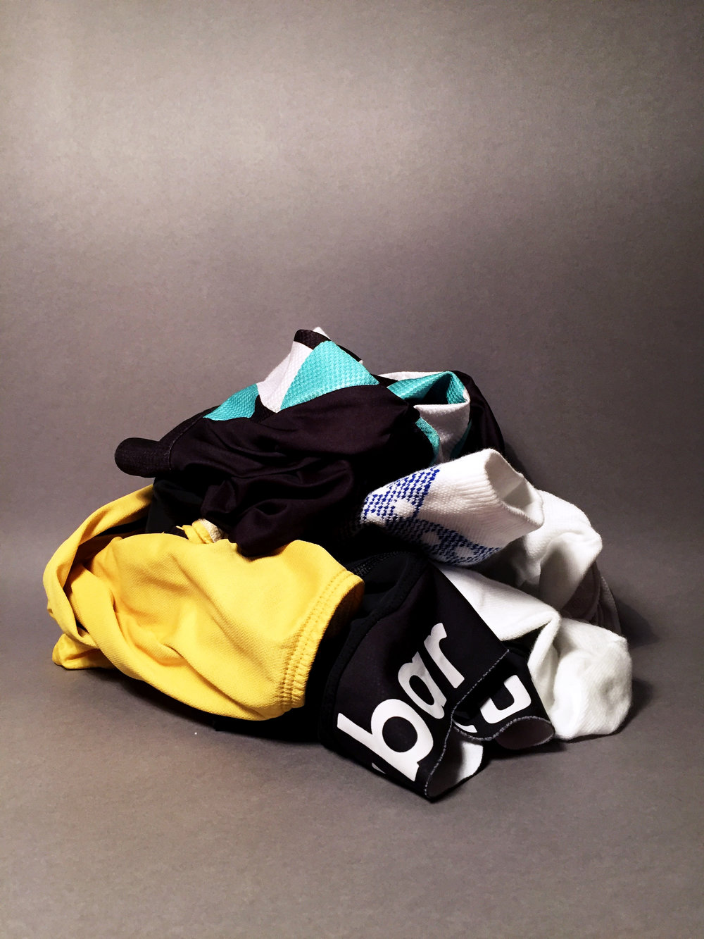 tour wind vest, ss grid jersey, classic bib shorts, puncheur socks