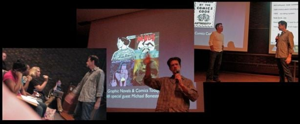 Olivia Banks, Michael Bonesteel and Paul Solomon debate Graphic Novels & Comics, September 29, 2010