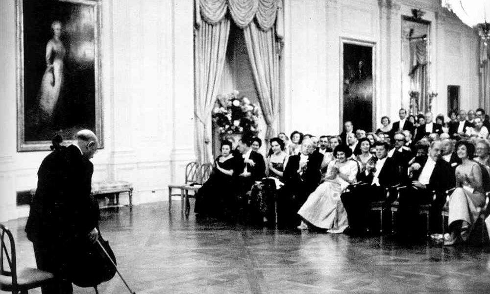 Pablo Casals performing at the White House