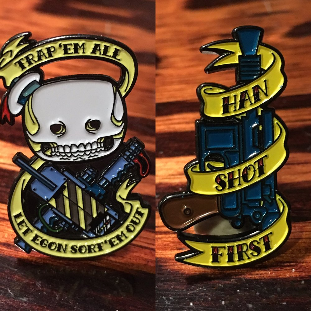 "Each pin is 1.5 "" h x .85"" w, and available for $10 each."
