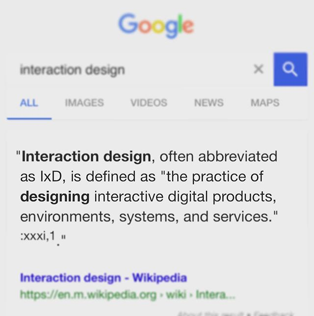 What is a definition of interaction design?
