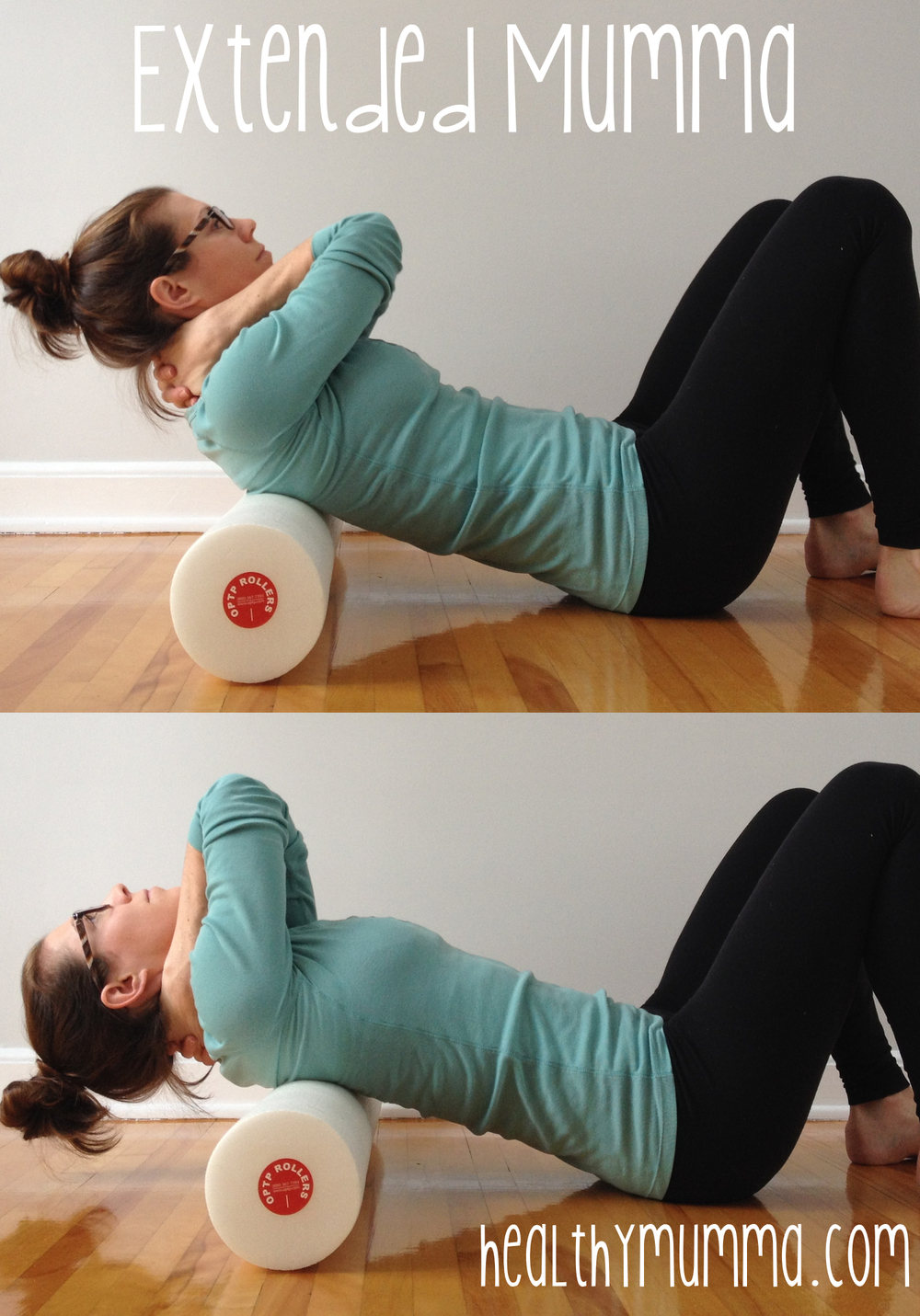 A great exercise for mid-back pain, thoracic spine extensions on a foam roller.