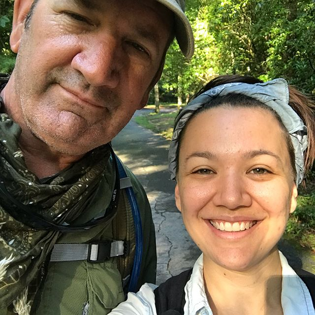 Throwback to last weekend...had a great time at #tablerockstatepark with @ash3marina and the gang. The old man and I hiked to the summit of Table Rock Mountain and had a blast doing it! Here we are feeling fresh and naive in the morning...swipe to see fresh views. #hikingadventures #lifesbetteroutdoors #southcarolina #mountains #scmountains