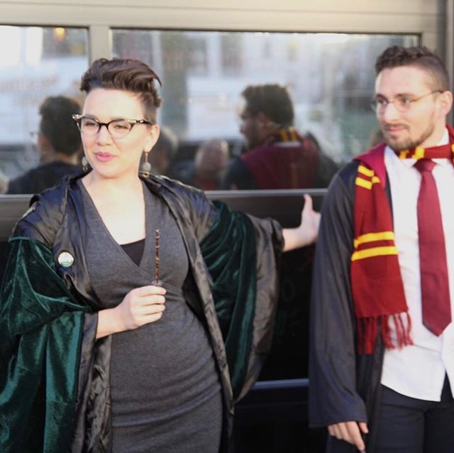 Had a great time hosting @evilgeniusbeer's super spooky #harrypotter #murdermystery this past weekend. Imelda Ermahgerd loves to solve mysteries and host parties! What a great way to kick off #halloween!  #allhallowseve #harrypotterparty #harrypotterbooks #harrypottermovies #witchcraft #hogwarts #hogwartsschoolofwitchcraftandwizardry #yerawizardharry #craftbeer #craftbeerphilly