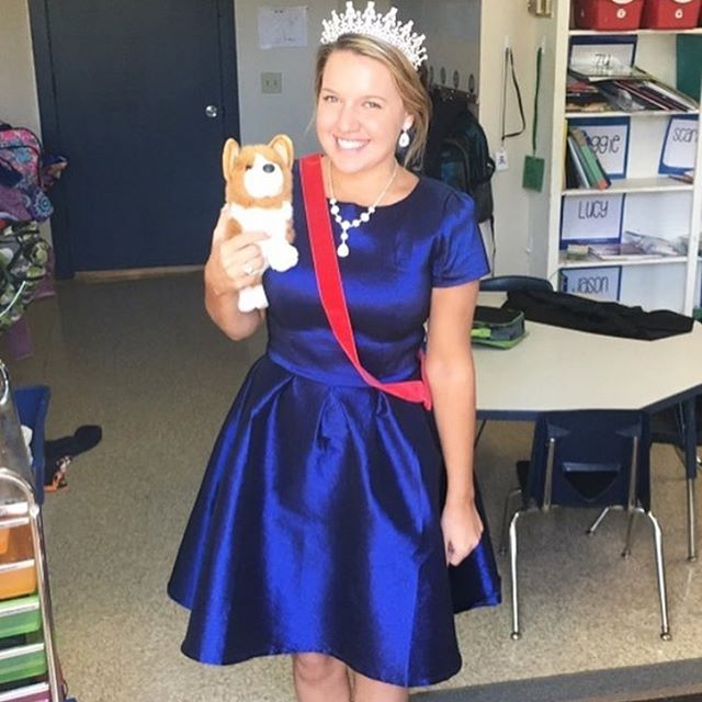 I'm nominating my sister @ash3marina to receive a year's unlimited membership with @renttherunway. This #queen is a superstar to her third graders. See her above dressed up for Halloween at her school in a costume that her students picked out for her. She has them write a persuasive argument each year convincing her to choose their idea for her costume. She makes learning creative and fun! Her weekends aren't for her either - she's the youth group counselor at our hometown church. And she is the best fashionista I know. She's our whole family's stylist...even right down to the cutest outfits & accessories for her rescue pup, Kingston. Ashleigh is royalty in all the important ways: she is thoughtful, kind, and happy to lend a helping hand. Help me fairy godmother her since I'm so far away and can't be there to always remind her she's a queen!  #fairygodmothered #fairygodmother #renttherunway @jvn @dressforsuccess