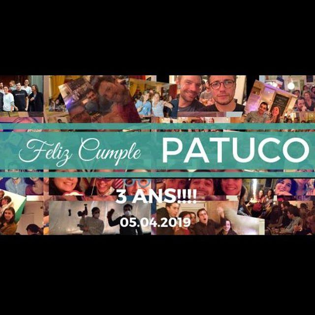 Happy Birthday @patucorestaurant 3 ANS!! Venez fêter ça avec nous ce soir! 🍾🎊🍸🔥 #patucorestaurant #happybirthday #bar #cocktail #biere #mangezdeschaussons