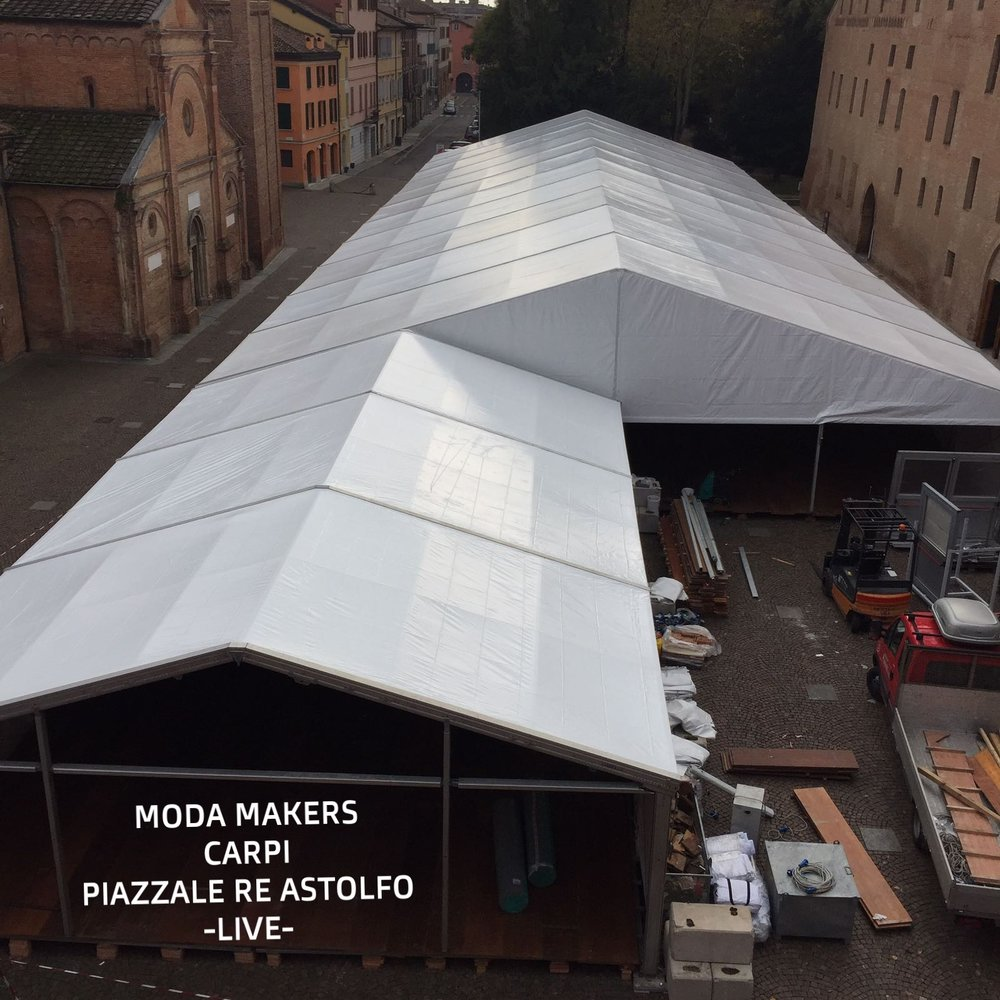 Building temporary event Moda Makers Carpi Italy