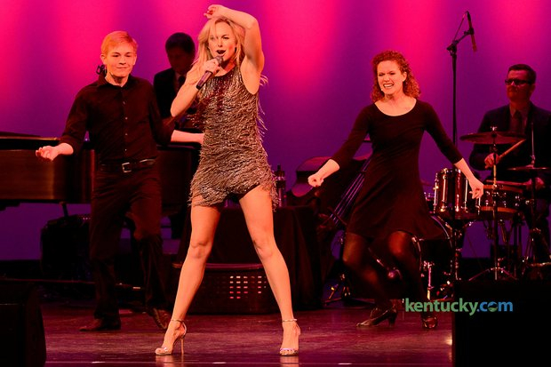 """Patrick performing with Laura Bell Bundy in The Lexington Theatre Company's """"Concert with the Stars"""""""