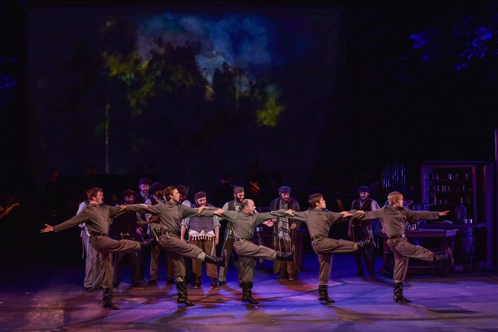 """Patrick (far right) performing """"To Life"""" as a Russian in """"Fiddler on the Roof"""" at the MUNY in St. Louis."""