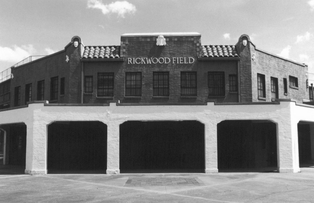 Rickwood Field's distinctive front entry (Bill Chapman)