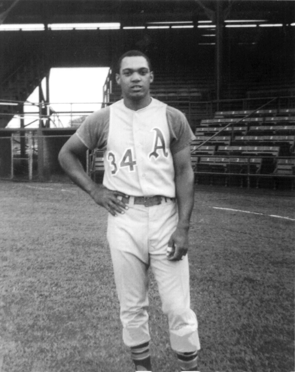 Birmingham A's Reggie Jackson at Rickwood Field, 1967 (Buddy Coker)