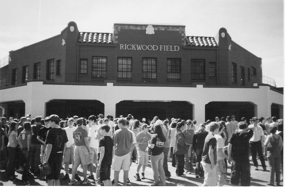 Middle school students visiting Rickwood Field as part of their Civil Rights study (Friends of Rickwood)