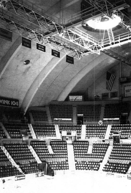 Figure 7. The Kingdome, Seattle, Washington, 1986, after completion of the roofing repairs. Exterior insulation has been used around the perimeter to eliminate ponding. Photograph courtesy of Seattle Times.