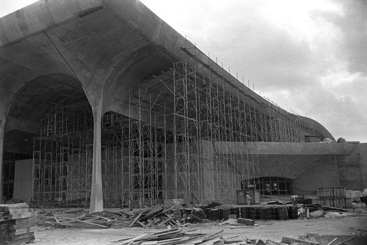 Figure 3. Rivergate Convention Center under construction, April 1968. The Convention Center was demolished in 1995. Photo by Nick DeWolf.