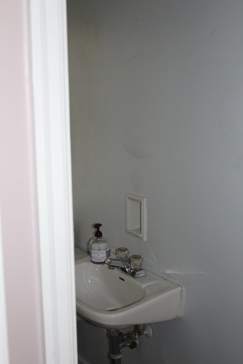 First floor powder room.
