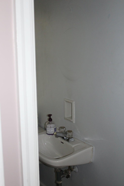 First floor powder room.