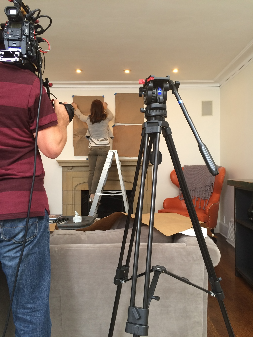 It's ridiculously nerve-wracking to be on a ladder and be filmed at the same time for some reason.