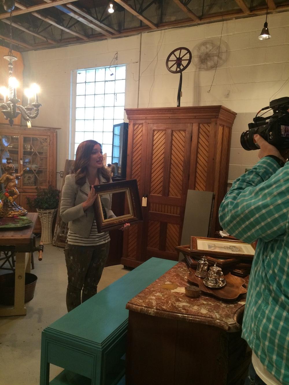 Found vintage frames for the episode at Renovation Home in Des Moines.