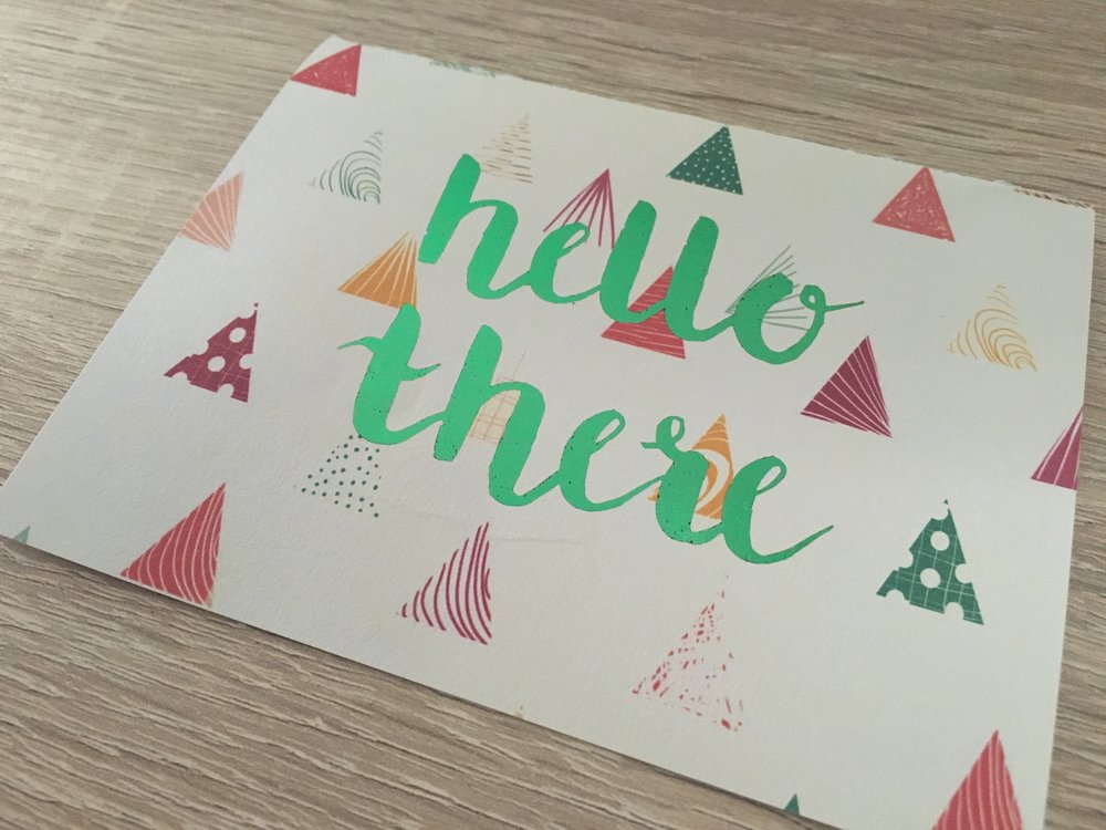 HELLO THERE // Green Foil on Print